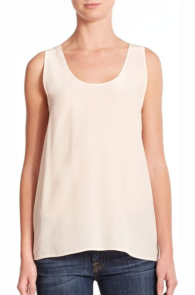 Equipment Kaylen silk tank top in chalkpink - Designed in sumptuous silk, the classic tank instantly...