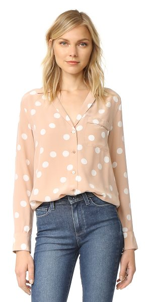 Equipment keira blouse in blush/nature white - Bold polka dots add a playful touch to this pajama...
