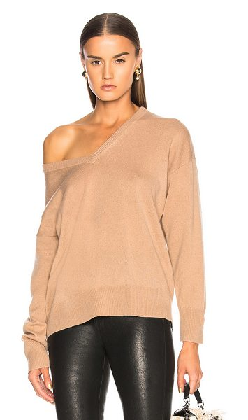 Equipment Lucinda Sweater in neutrals - 100% cashmere.  Made in China.  Dry clean only.  Knit...