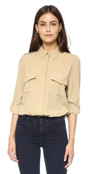 Equipment Major button down in khaki - Epaulets and front flap pockets give this Equipment...