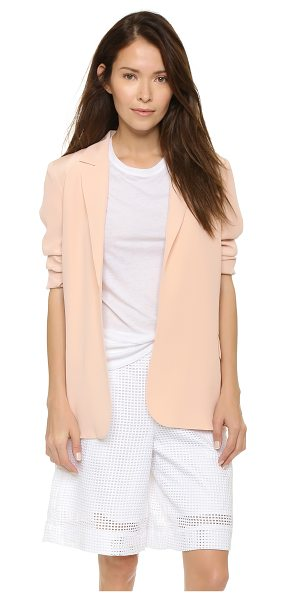 Equipment Mitchell blazer in nude - A timeless Equipment blazer cut from soft silk. Notched...