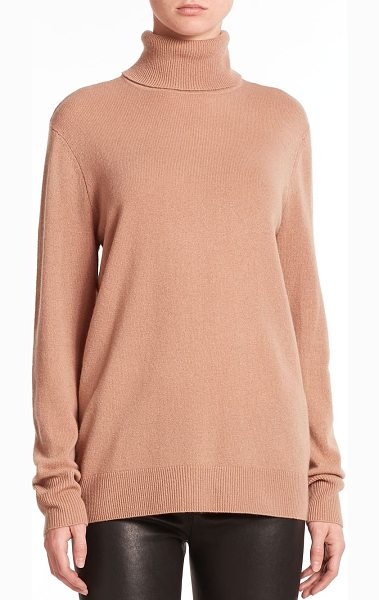 Equipment oscar cashmere turtleneck sweater in camel - An incredibly soft cashmere sweater cut in a relaxed...