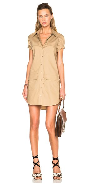 Equipment Remy Utility Dress in neutrals - 100% cotton.  Made in China.  Unlined.  Breast flap...