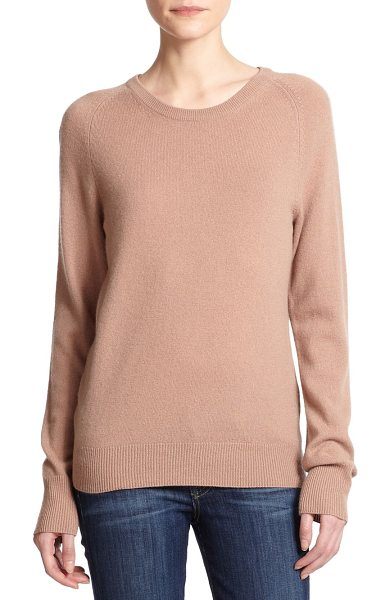 Equipment Sloane cashmere sweater in camel - Lush cashmere elevates this classic crewneck to a luxe...