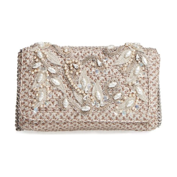 Eric Javits devina embellished clutch in taupe glow - You don't have to save this twinkly woven clutch for...