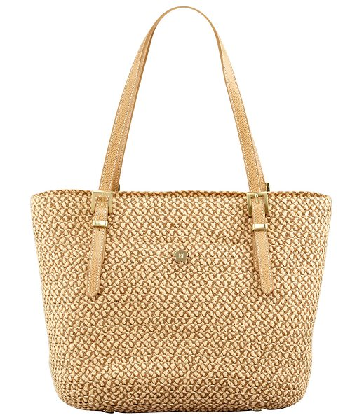 ERIC JAVITS Jav Squishee Tote Bag in natural - Signature Squishee with matte leather trim. Shoulder...