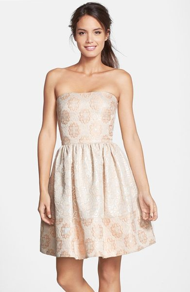 ERIN ERIN FETHERSTON caroline strapless textured jacquard dress - A dreamy fit-and-flare cocktail dress floats into the...