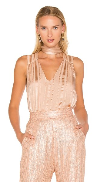 Erin Fetherston L'Amant Tie Neck Blouse in rose - Self: 72% silk 28% metallicLining: 100% silk. Dry clean...