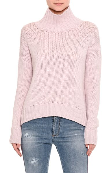 ERMANNO SCERVINO Cashmere Turtleneck Sweater in light pink - Ermanno Scervino sweater featuring color palette from...