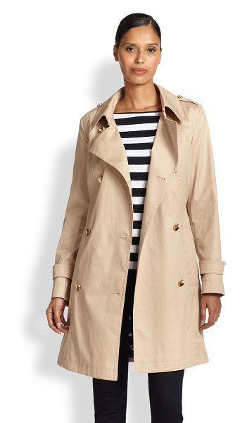 ESCADA Belted trenchcoat in sandgold - A sartorial staple in lightweight stretch cotton is...