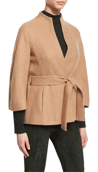 "ESCADA Cashmere Belted 3/4-Sleeve Jacket - Escada cashmere jacket. Approx. 25""L down center back...."