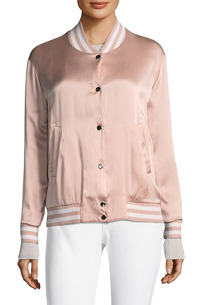 Escada Sport summer reversible bomber jacket in rose shadow - Satin bomber jacket with reversible feature. Baseball...