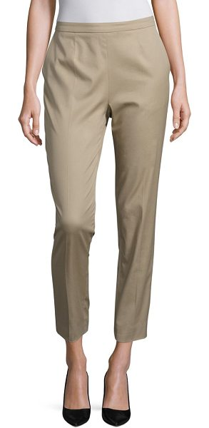 ESCADA talarantex cotton pants in sand - Classic cotton pants in a cropped silhouette. Front...