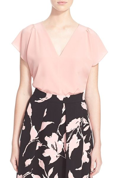 ESCADA v-neck silk blouse in rose hip - Effortlessly feminine and endlessly versatile, this...
