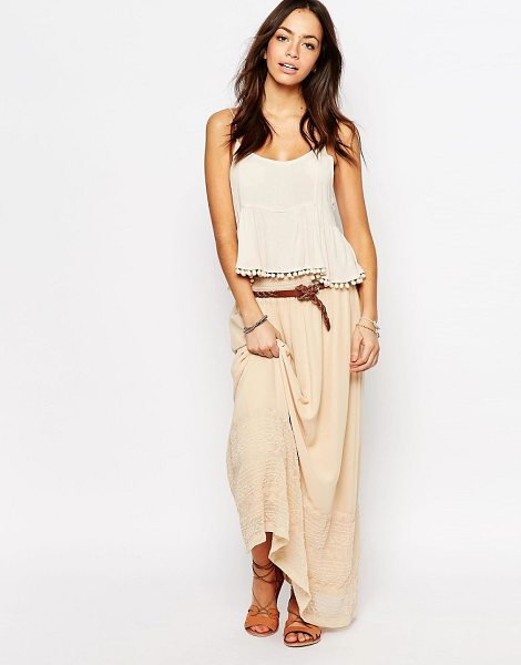 ESPRIT Embroidered Maxi Skirt - Maxi skirt by Esprit, Lightweight woven fabric, Fully...