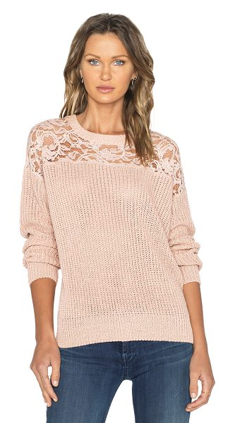 Essentiel Happy returns sweater in pink - Shell: 100% acrylicTrim: 65% cotton 35% polyamide. Hand...