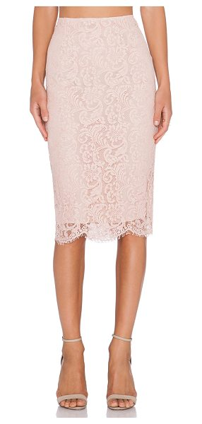 "Essentiel Kubus skirt in blush - Nylon blend. Hand wash cold. Skirt measures approx 28""""..."