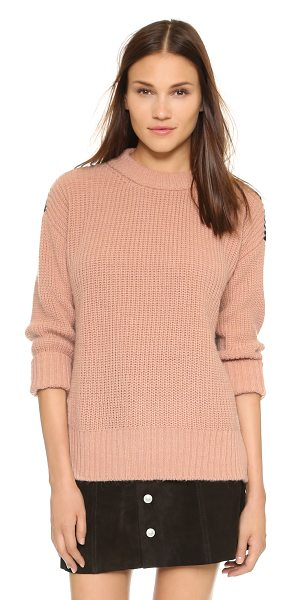 Essentiel Kwaku sweater in canyon rose - A slouchy Essentiel sweater with a colorblock back panel...