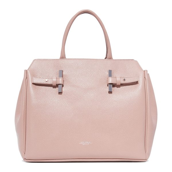 Estemporanea debbi satchel in mauve - An understated Estemporanea satchel in pebbled leather....