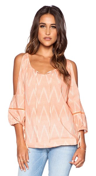 Eternal Sunshine Creations Island dream dreamy cover up top in peach - Cotton blend. Neckline tie closure. Open shoulders....