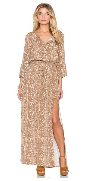 Eternal Sunshine Creations Sunset Meadow Maxi Dress in brown - Rayon blend. Hand wash cold. Partially lined. Partial...