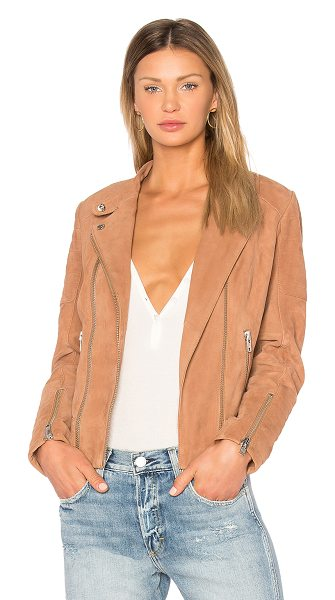 ETIENNE MARCEL Suede Moto Jacket - Self: 100% goat suedeLining: 100% poly. Professional...