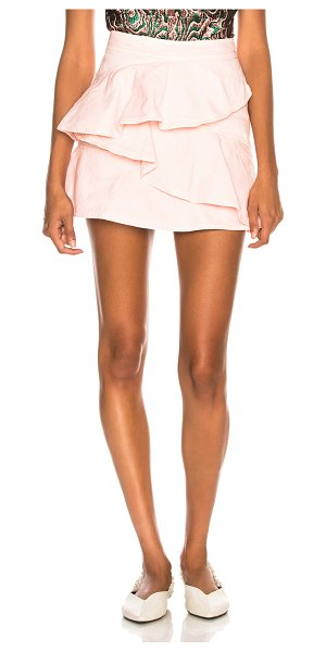 Etoile Isabel Marant Coati Skirt in pink - Self & Lining: 100% cotton.  Made in Morocco.  Machine...