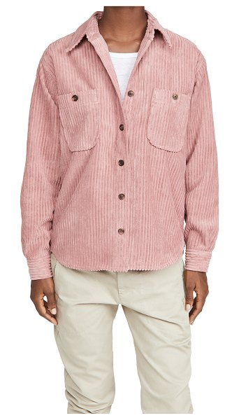 Etoile Isabel Marant dexo oversized button down in rosewood