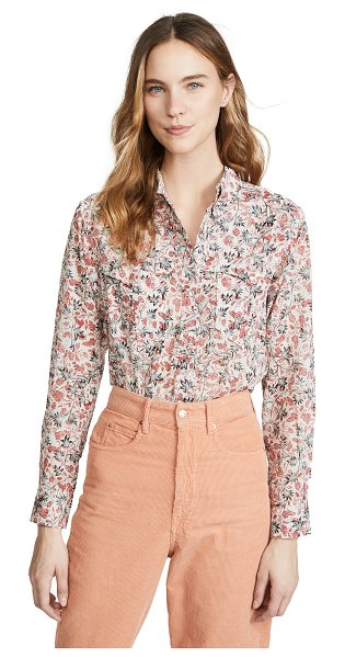 Etoile Isabel Marant emelina button down shirt in ecru - Fabric: Lightweight plain weave Snaps at cuffs and...
