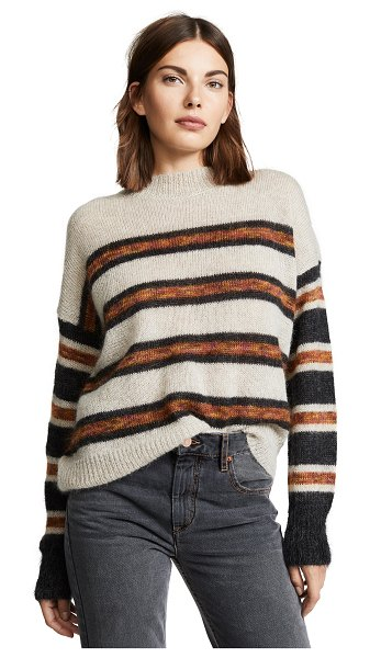Etoile Isabel Marant russel sweater in beige/faded black - Fabric: Brushed knit Stripe pattern Pullover style...