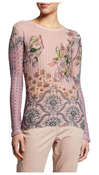 ETRO Sheer Cable with Overprint in pink
