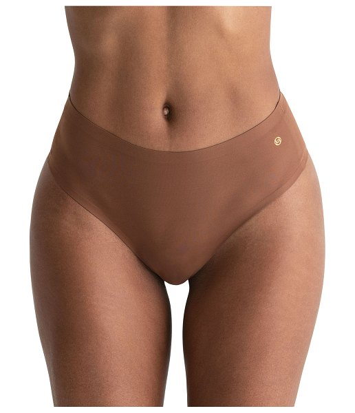 Evelyn & Bobbie High-Waist Thong 2-Pack in clay