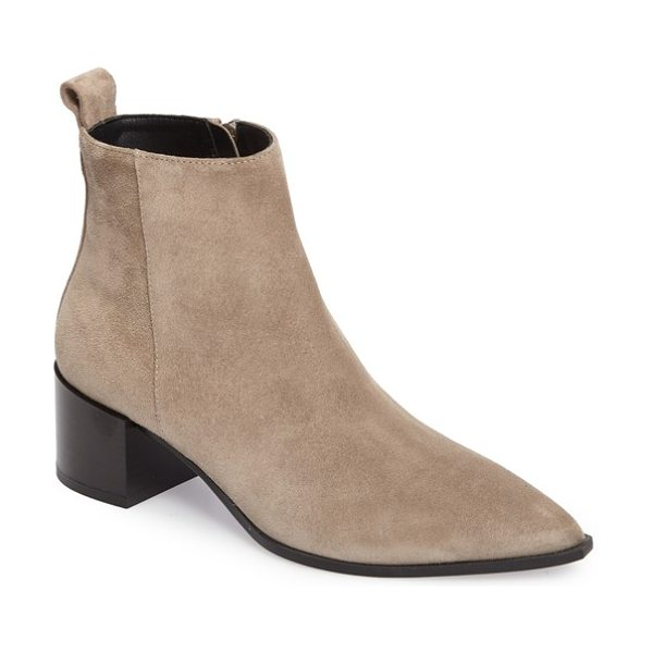 EVERLANE the boss boot in taupe grey suede - A sharply pointed toe demands attention on a chic ankle...