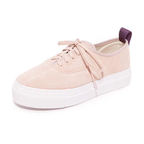 Eytys mother suede sneakers in powder pink - Soft suede Eytys sneakers with a timeless, casual feel....