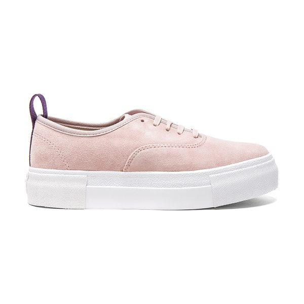 Eytys Suede Mother Sneakers in powder pink - Suede upper with rubber sole. Made in Vietnam. Approx...