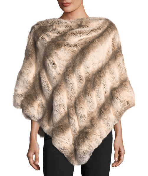 Fabulous Furs Faux-Fur Couture Poncho in light brown - EXCLUSIVELY AT NEIMAN MARCUS Fabulous Furs couture faux...