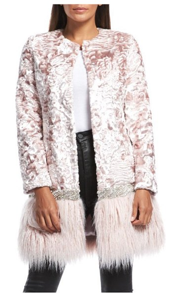 Fabulous Furs Make Me Blush Faux-Fur Coat in blush