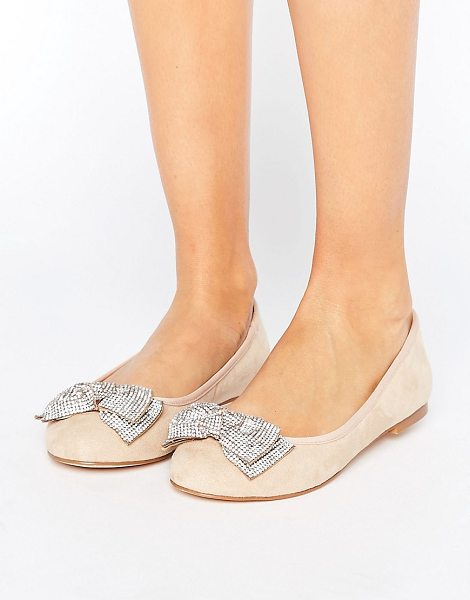 FAITH Ackley Embellished Flat Shoes - Shoes by Faith, Textile upper, Slip-on design,...