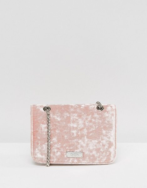 Faith Blush Velvet Mini Cross Body Bag in pink - Cart by Faith, Velvet outer, Fully lined, Chain body...