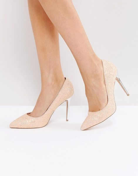 "FAITH Chloe Party Pink Pumps - """"Heels by Faith, Glitter upper, Slip-on style, Point..."