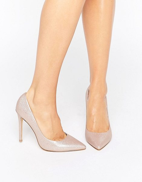 Faith Chloe Shimmer Pumps in gold - Heels by Faith, Shimmer-finished upper, Leather lining,...