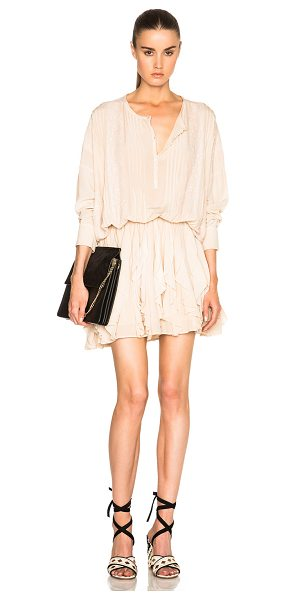 Faith Connexion Silk Lace Dress in nude - 100% silk. Made in Hungary. Partially lined. Button...