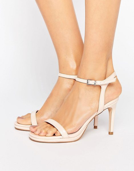 FAITH Dolly Heeled Sandals - Shoes by Faith, Faux-leather upper, Ankle-strap...