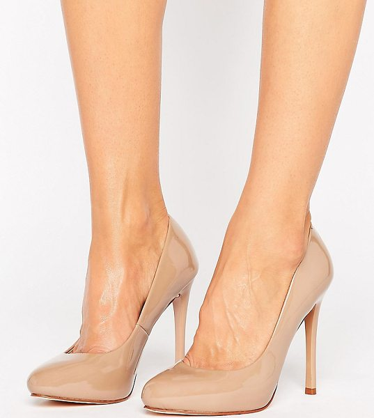 "FAITH WIDE FIT Candy Heeled Shoes in beige - """"Heels by Faith, Faux-leather upper, Patent finish,..."