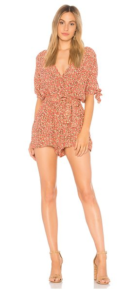 Faithfull The Brand Cusco Playsuit in pink