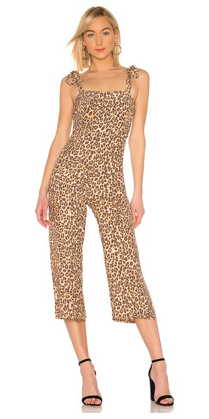 """Faithfull The Brand Elsa Jumpsuit in brown - """"100% rayon. Hand wash cold. Crepe fabric. Self-tie..."""