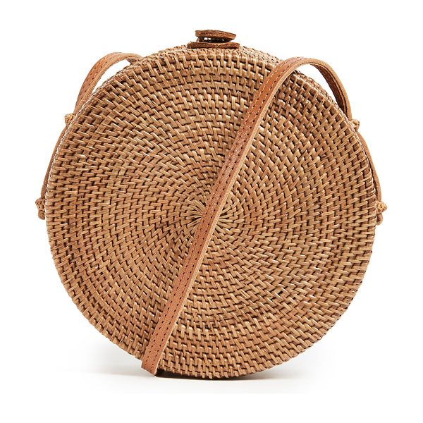 FAITHFULL THE BRAND jana round cross body bag in natural - Fabric: Wicker Snap at top Cross-body strap Lined Dust...