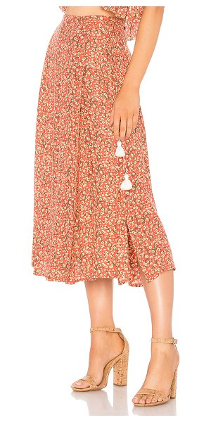 "Faithfull The Brand Marieta Skirt in pink - ""Rayon blend. Hand wash cold. Unlined. Wrap front with..."
