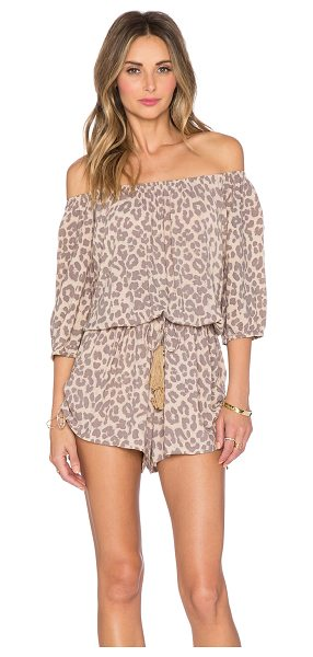 FAITHFULL THE BRAND Rio playsuit in beige - 100% rayon. Hand wash cold. Elasticized neckline and...