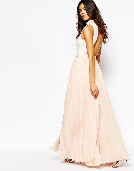 FAME AND PARTNERS Downtown queen full prom maxi dress with high neck - Evening dress by Fame and Partners, Smooth woven fabric,...